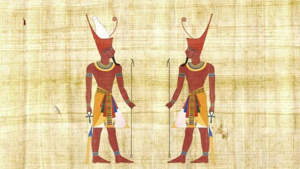 Dolní Egypt faraon a všech Egypt faraon na pozadí Papyrus