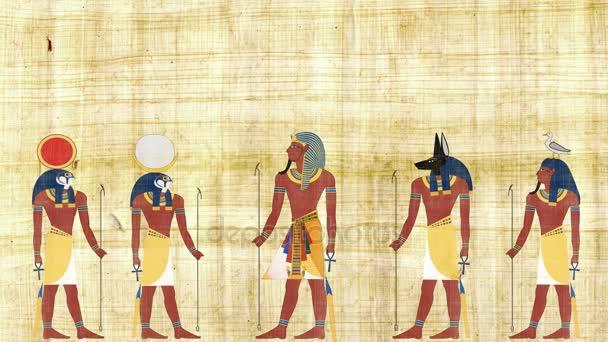 Faraon, obklopené bohové Egypta
