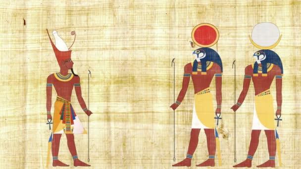 Všechny Egypt faraon s Ra a Chonsu