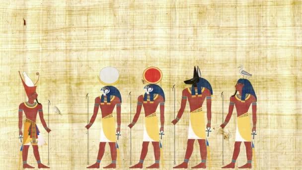 Faraon, konzultace s Ra Geb Chonsu a Anubis