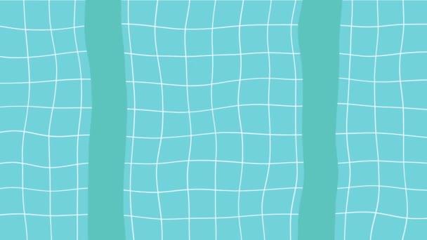 Cartone animato piscina in vista dallalto