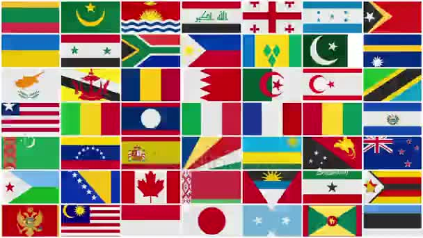 All the World Flags Background