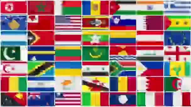 World Countries Flags Background
