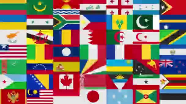 All the Countries Flags Background