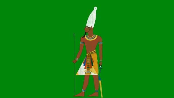 Upper Egypt faraon na pozadí zelená obrazovka