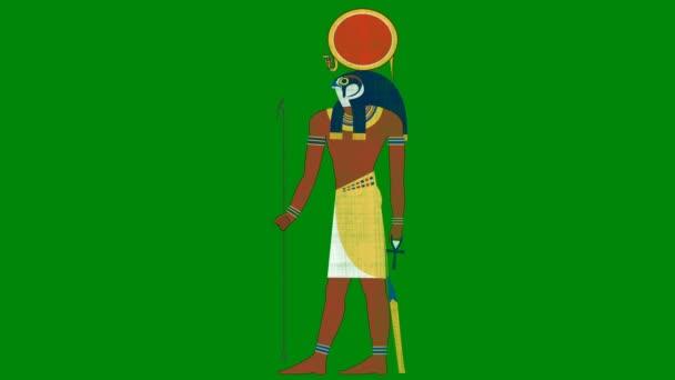 Egyptský bůh slunce Ra na pozadí zelená obrazovka