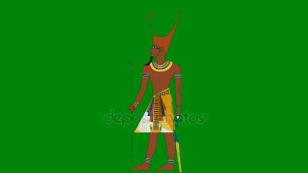 Dolní Egypt faraon na pozadí zelená obrazovka
