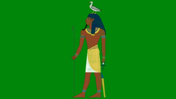 Egyptský bůh GEB zemi na zelené pozadí