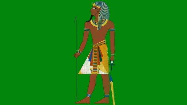 Egyptský faraón na pozadí zelená obrazovka