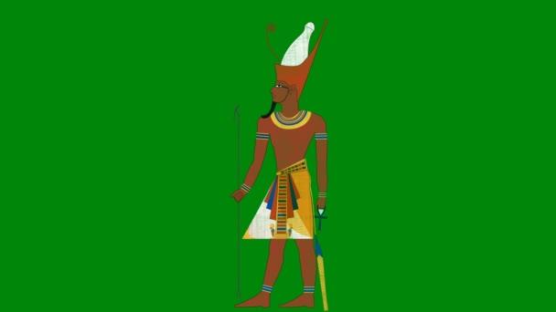 Dvojité korunovat všechny faraonem Egypt na pozadí zelená obrazovka