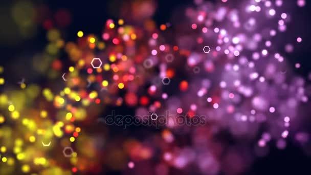 Imagenes Coloridas De Fondo: Hermoso Fondo Pantalla Relajante Partículas Coloridas