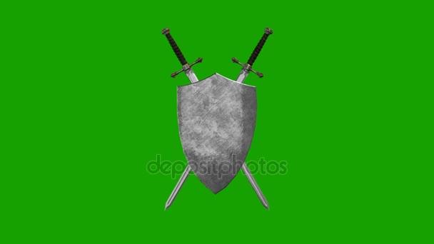 Kard és pajzs alkotó egy szimbólum az alfa-csatorna