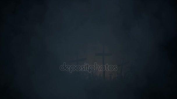 Tombe segnate con una croce nel selvaggio
