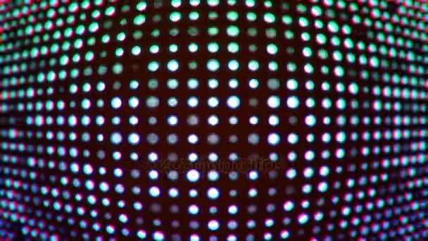 Looping hullám a villogó kék Led képernyő fények