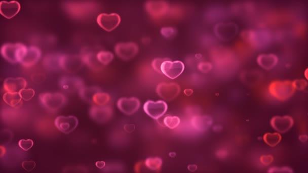 Gyönyörű romantikus szívek háttér