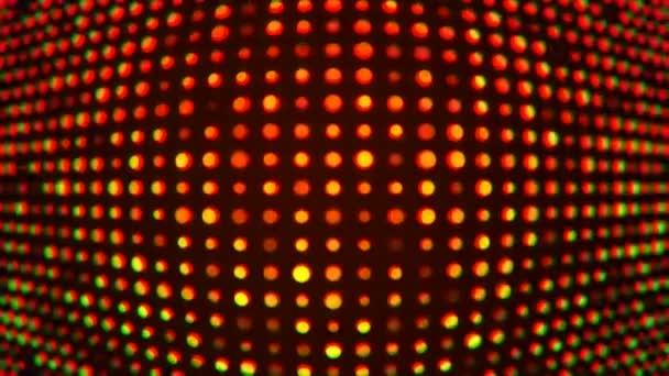 Hurkolás hullám egy villogó vörös Led lámpák képernyő