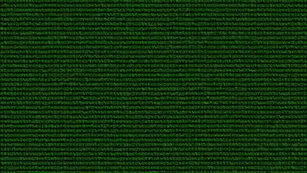 Zufällige Tierkreis Zeichen Hintergrund in einem Matrix-Stil