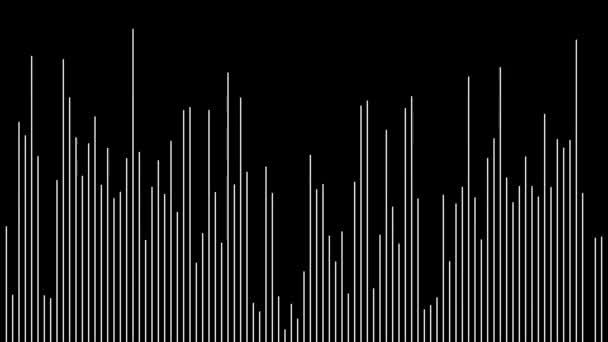 Wellenform-Equalizer mit dünnen Linien