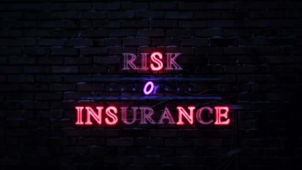 Risk Or Insurance Neon Sign