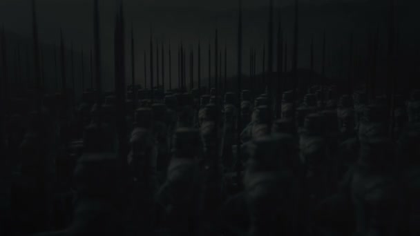 Medieval Army Standing Under Storm
