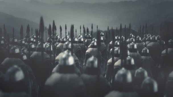 Velká armáda Vikingských válečníků připravena k bitvě