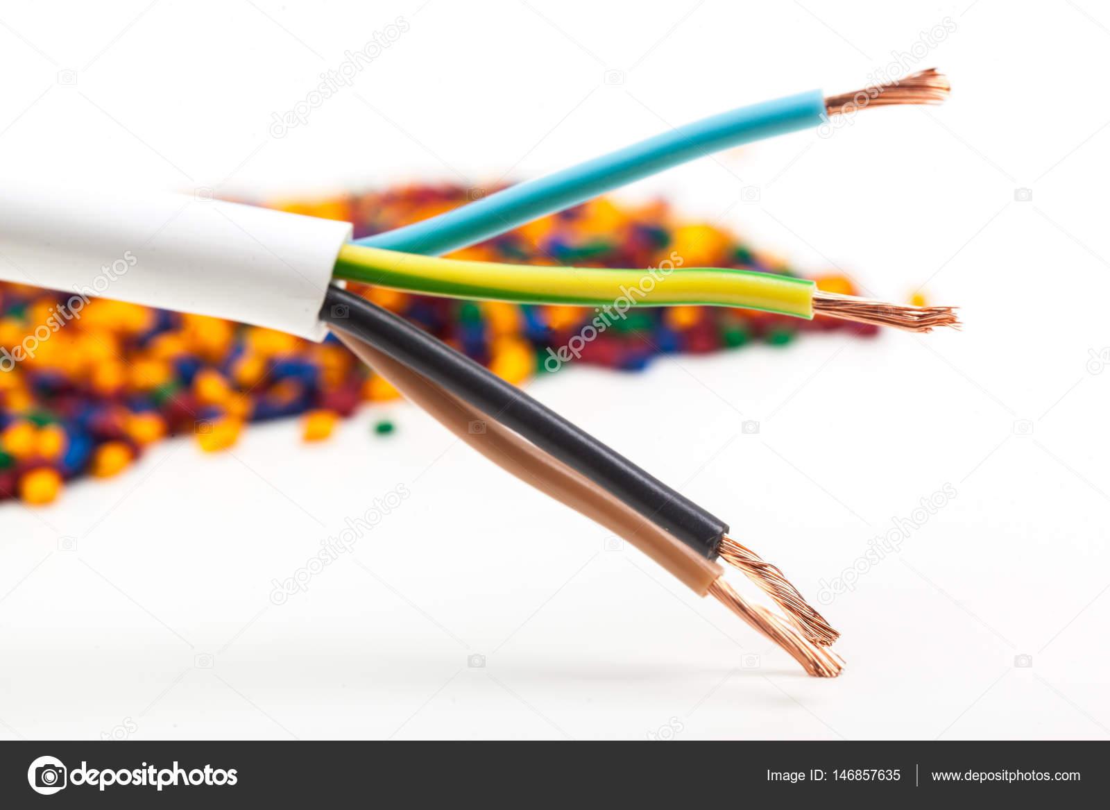 Farbige Elektrokabel farbige kabel stockfoto fotofabrika 146857635