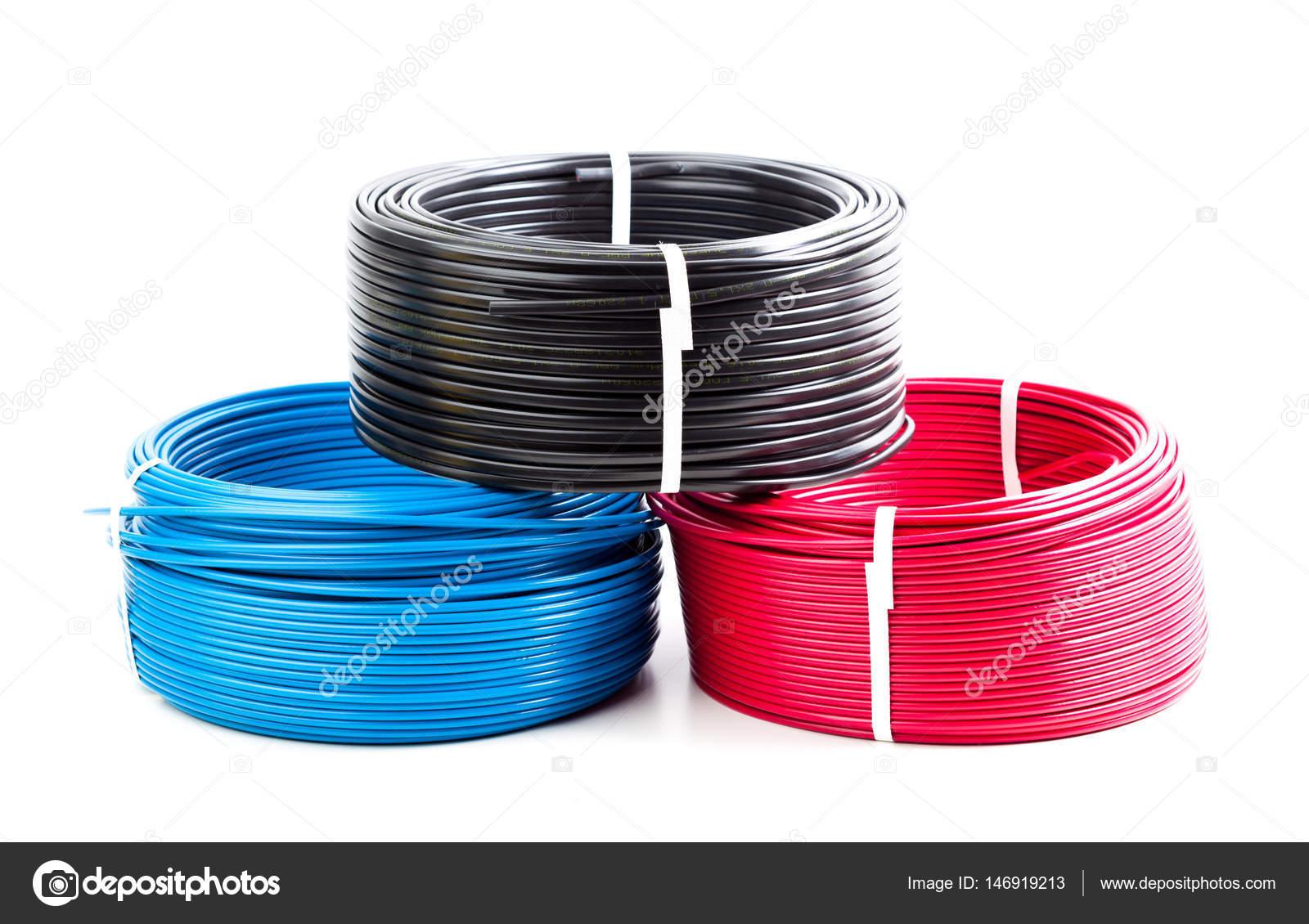 Farbige Elektrokabel farbige kabel stockfoto fotofabrika 146919213