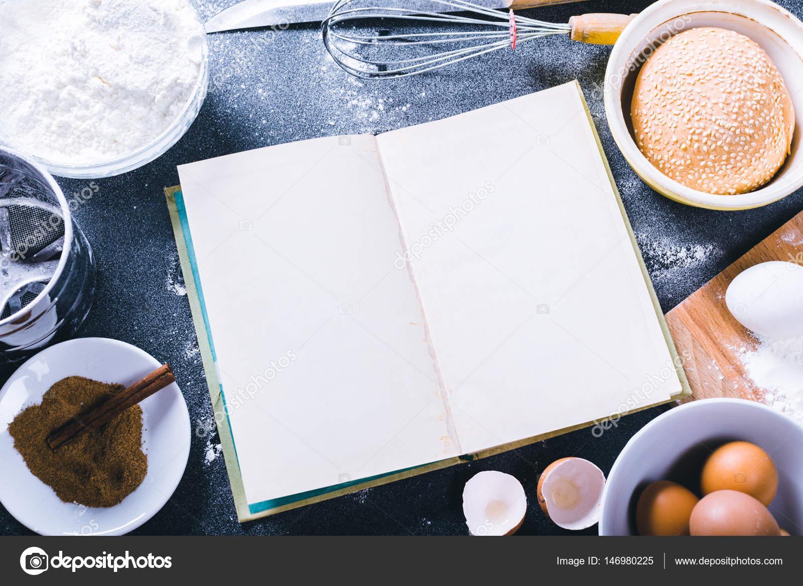 Backen Rezept Vorlage — Stockfoto © Fotofabrika #146980225