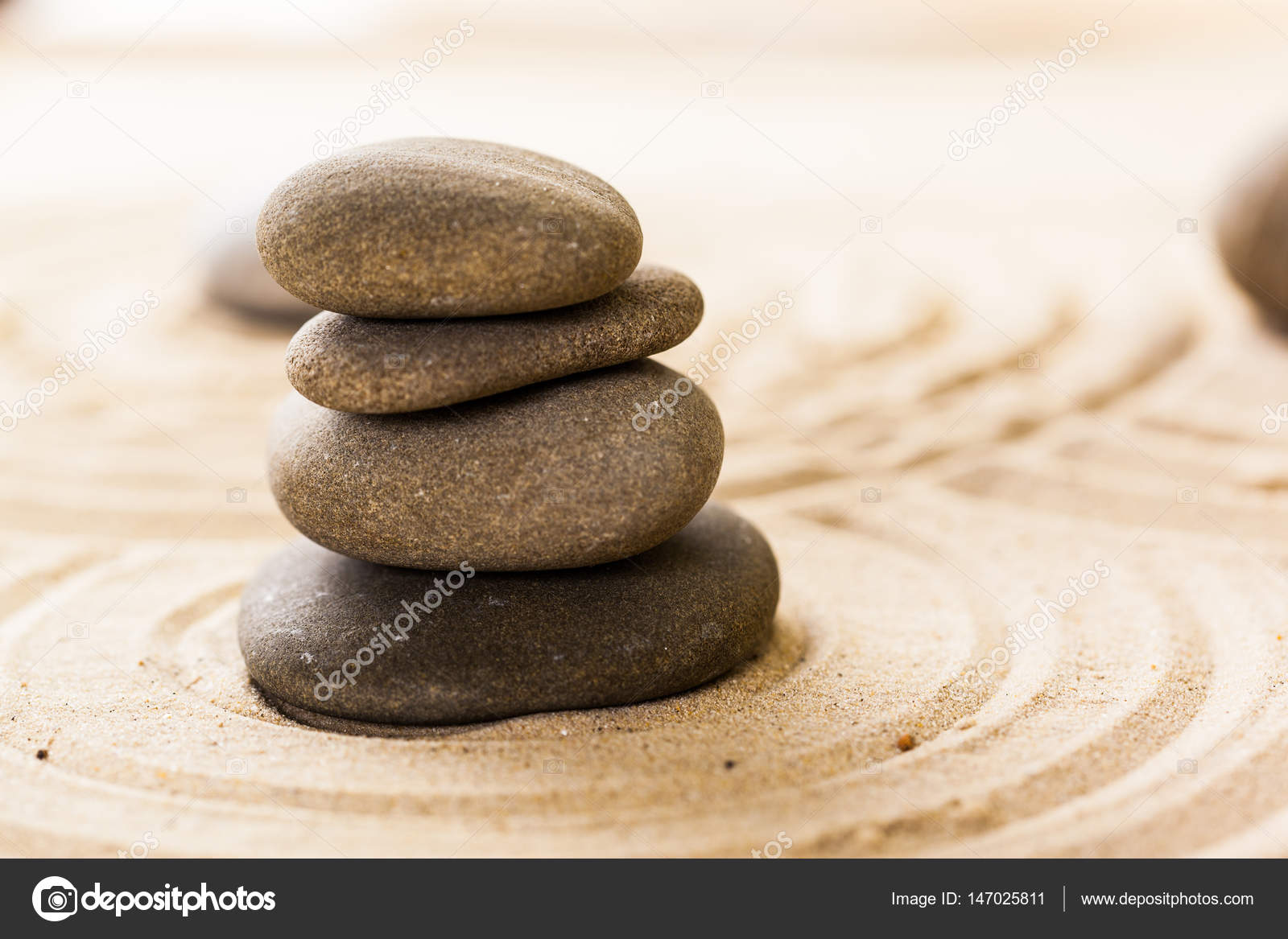Sand garden for meditation — Stock Photo © Fotofabrika #147025811
