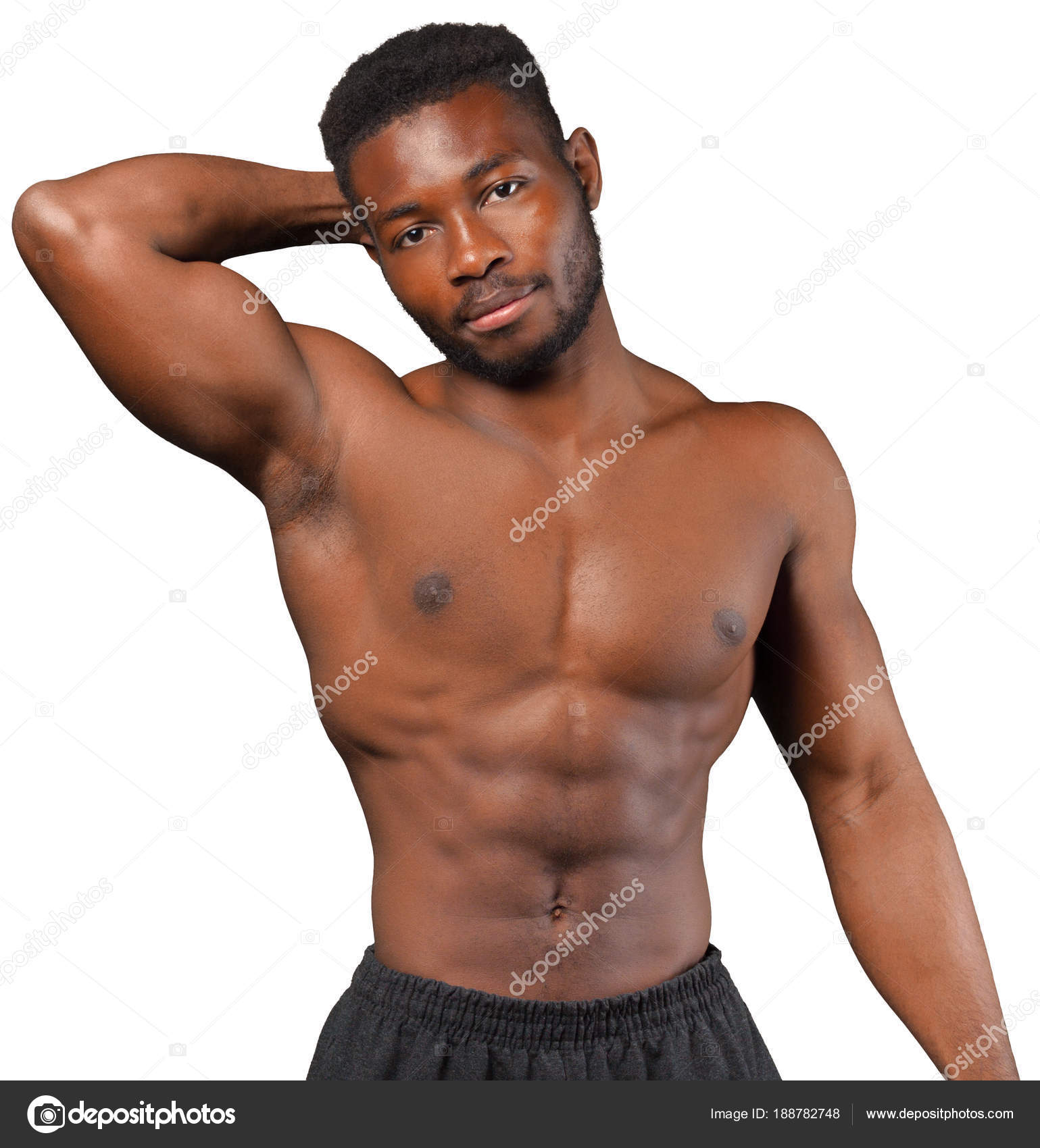 Handsome guy shows his body