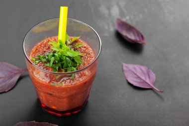 Healthy domestic tomato juice