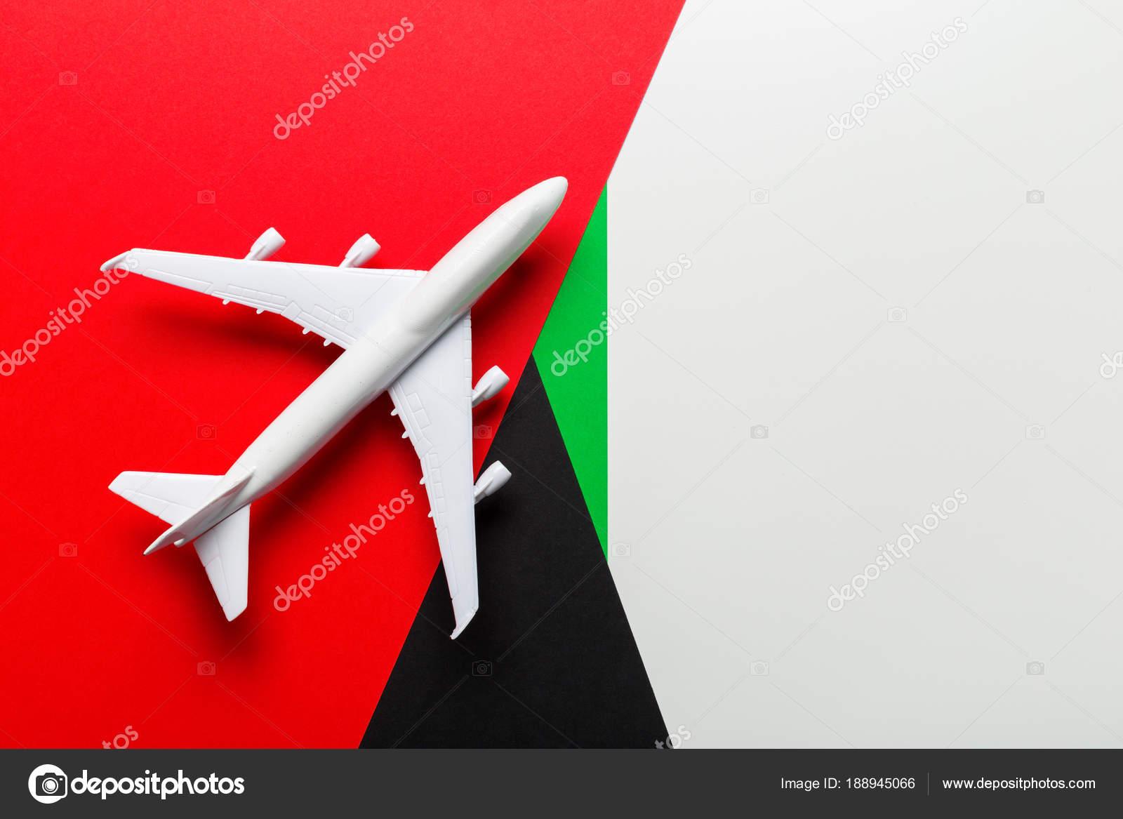 Closeup Avión Miniatura Colores Fondo Concepto Viaje Vacaciones ...