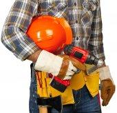 mužské stavební dělník s nástroji