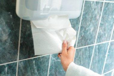 paper towel dispenser close up