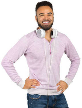 Portrait of young African american man with headphones