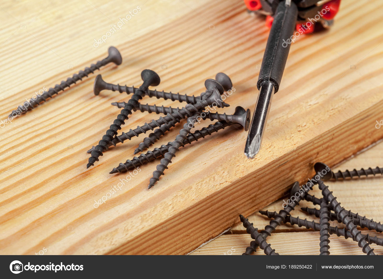 Pile Framing Nails Wooden Surface — Stock Photo © Fotofabrika #189250422