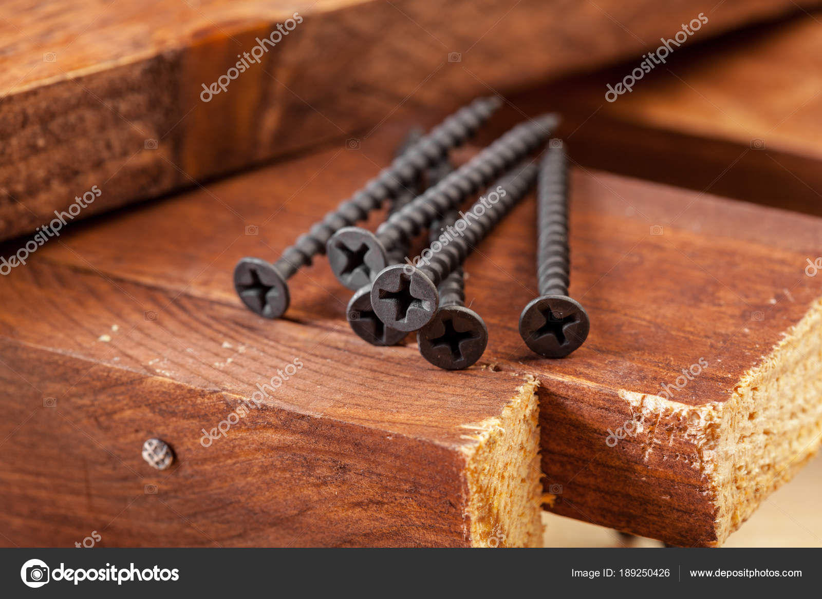 Pile Framing Nails Wooden Surface — Stock Photo © Fotofabrika #189250426