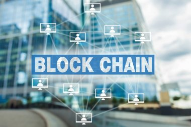 block chain technology concept