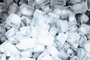 Ice cold cubes close up