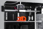Fotografie White 3D printing piece