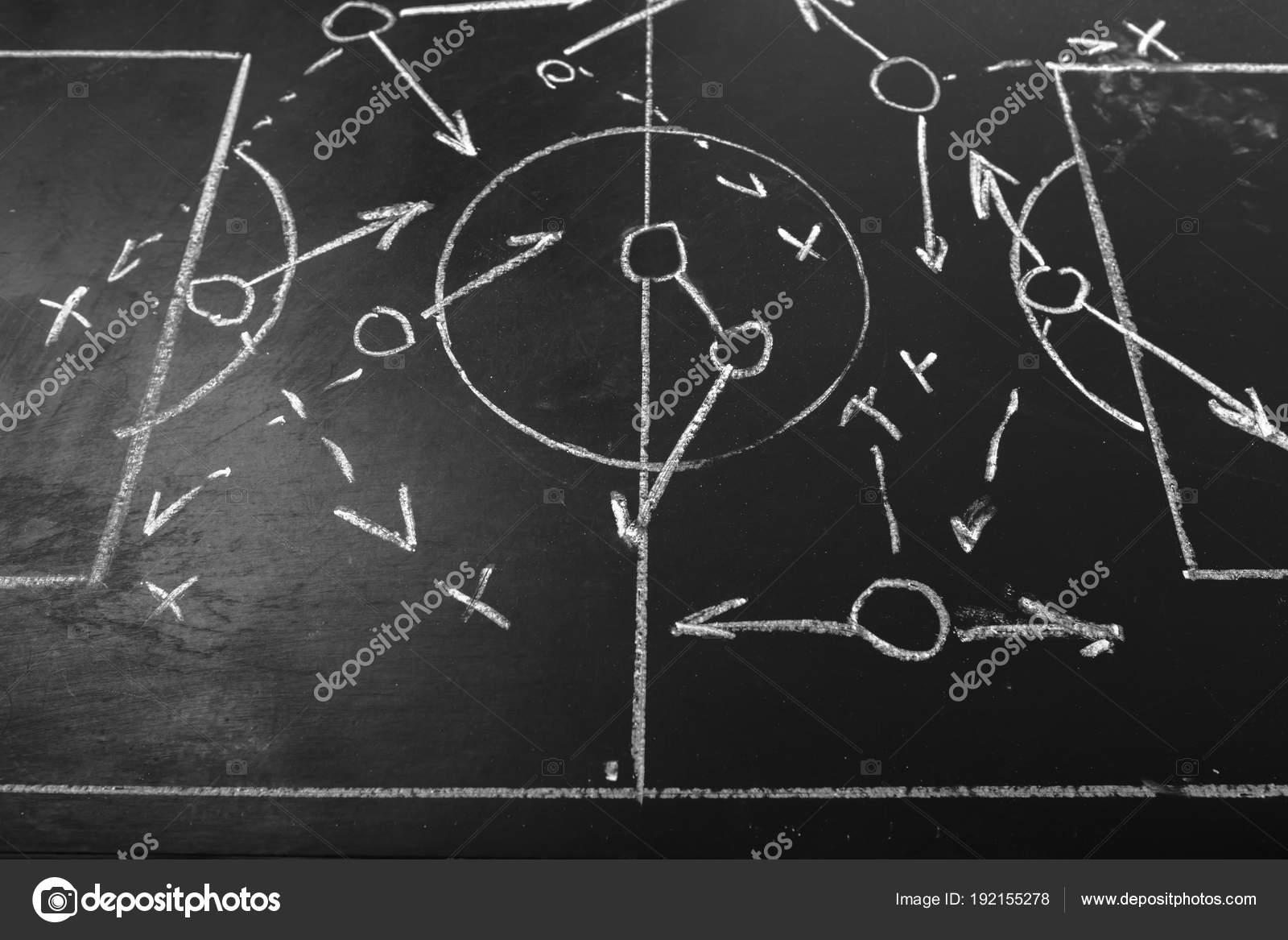 soccer plan chalkboard formation tactic stock photo fotofabrika