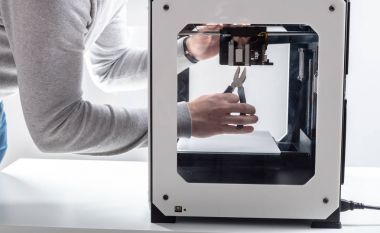Designer Working With 3D Printer
