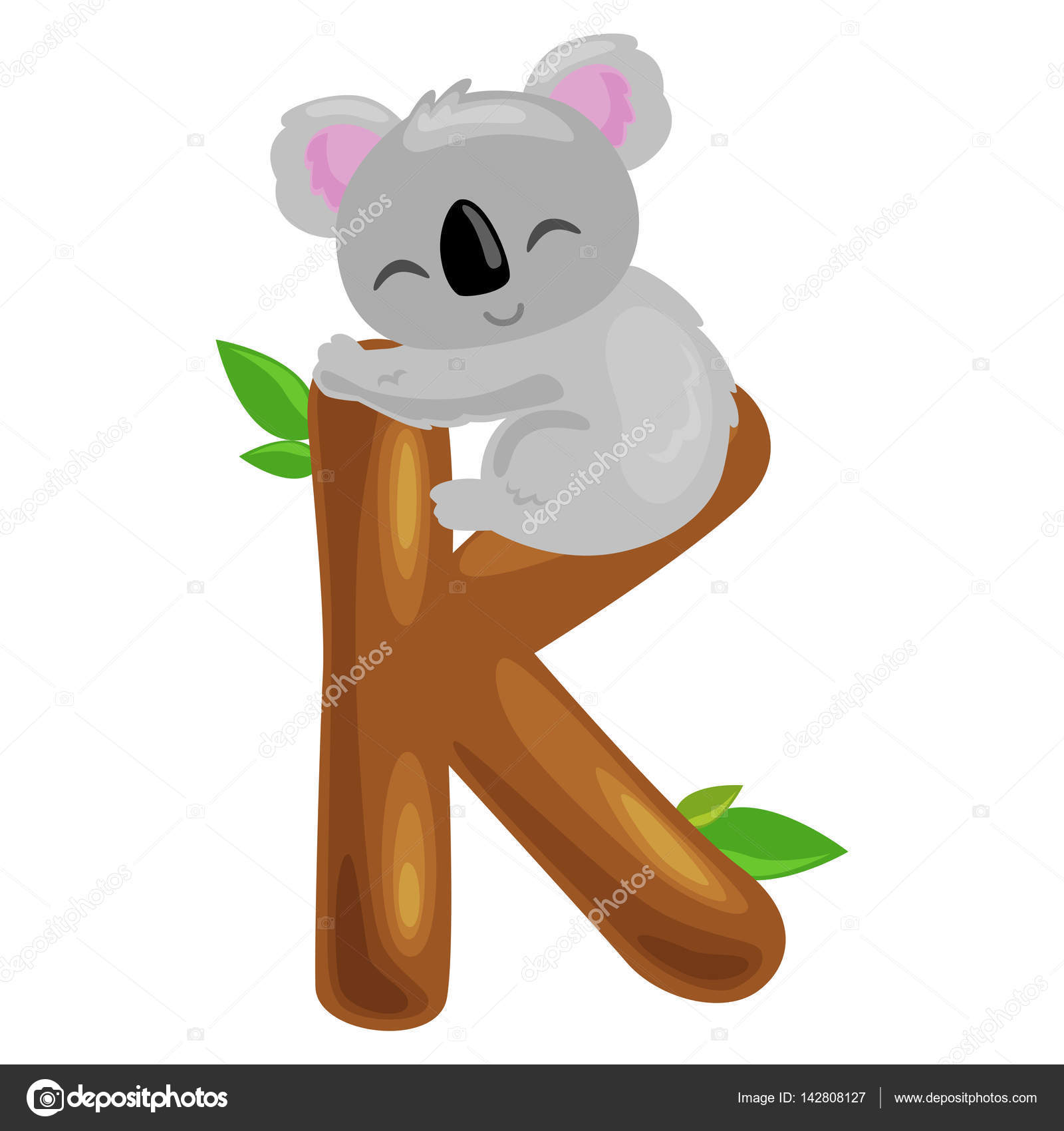 Illustrazione vettoriale di un koala cartone animato scaricare