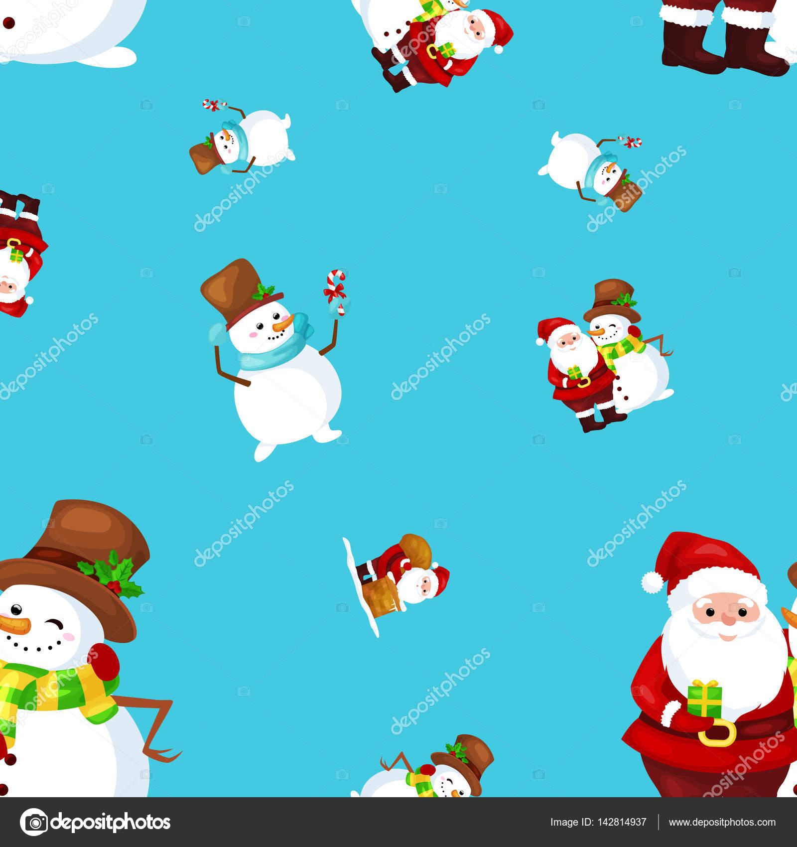Frohe Weihnachten An Freunde.Frohe Weihnachten Und Happy New Year Freunde Santa Claus In Hut