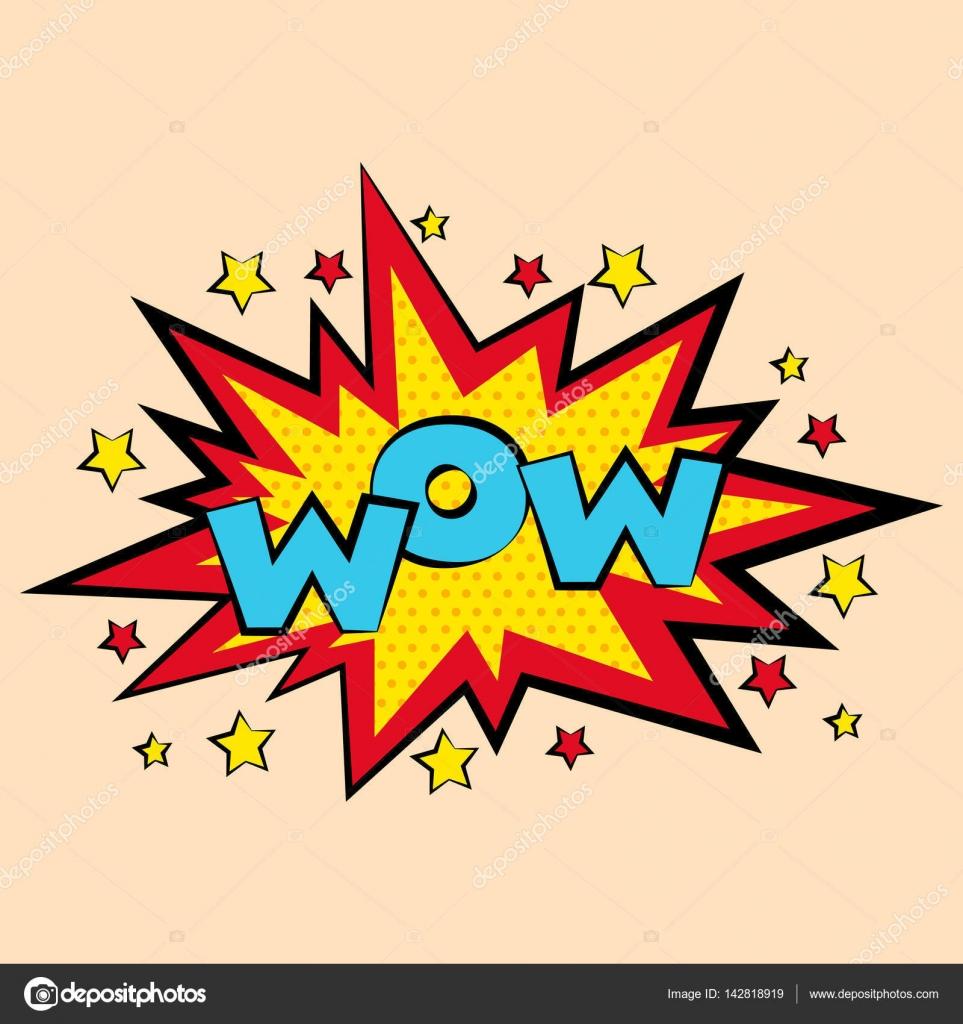 Comic-Sound-Effekte in Pop-Art-Vektor-Stil. Blase Rede mit Wort und ...