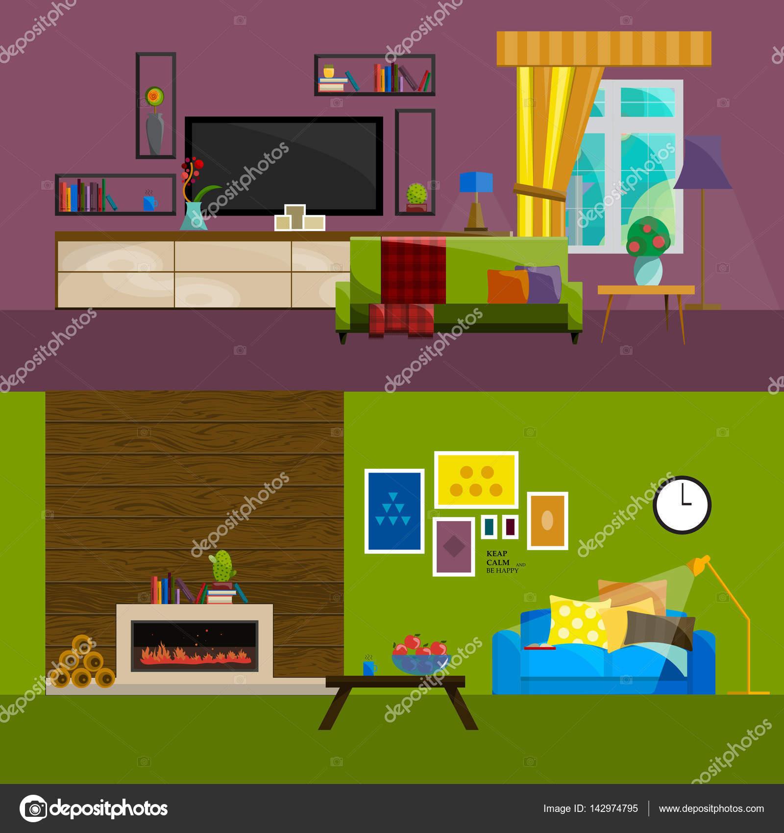 Platte Tv Kast.Platte Interieur Instellen Voor Huis Woonkamer Meubilair