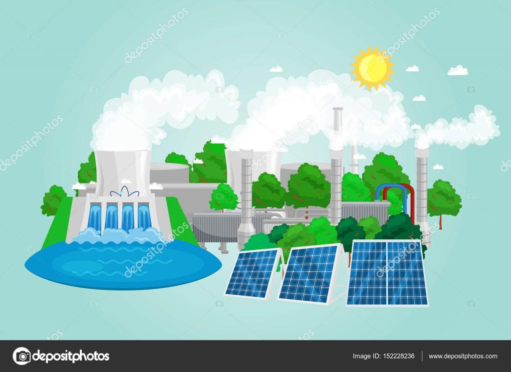 renewable ecology energy icons green city power alternative