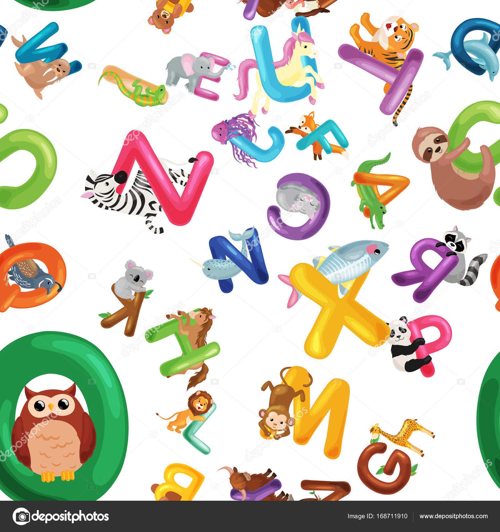 Fondo: abecedario con animales en ingles | Fondo abecedario de ...