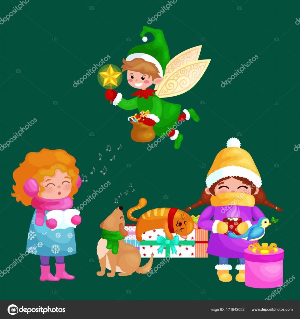 Chanson Un Joyeux Noel.Illustrations La Valeur Joyeux Noel Bonne Annee Fille