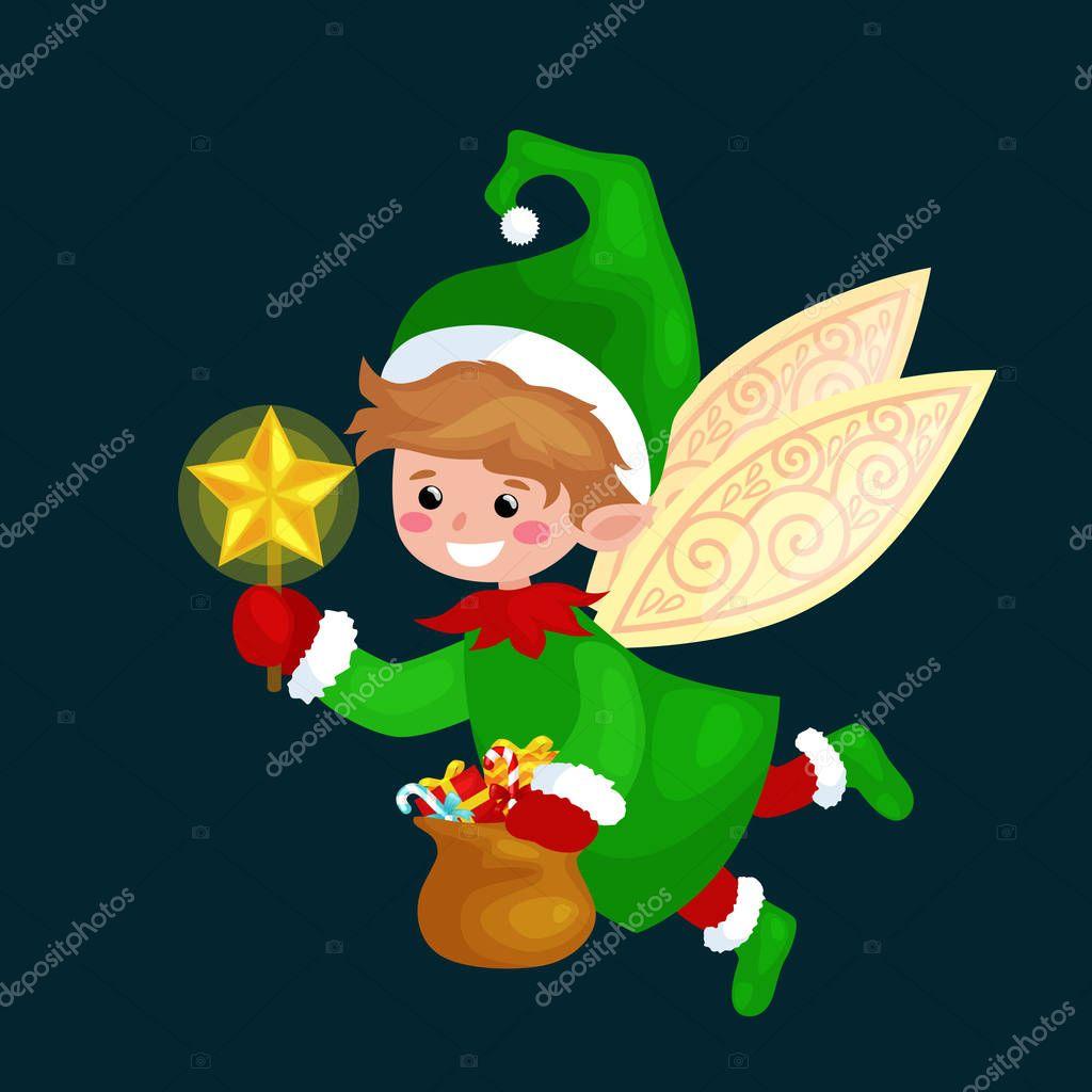 Tutina Elfo baby suit Santa/'s little helper